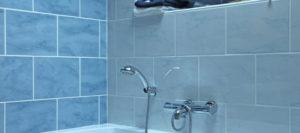 robinetterie de la douche
